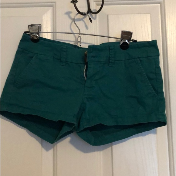 American Eagle Outfitters Pants - Cute blueish green shorts in great condition!
